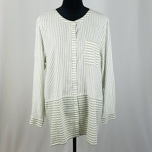 J. Jill women XL long sleeve button down striped